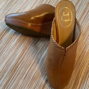Jack Rogers Brown Leather Mules